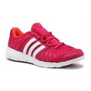 Adidas Key Flex W Pink & White Mesh Running Shoes
